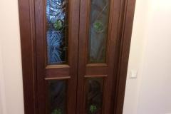 Двери дуб стекло