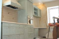 Кухня массив и шпон дуба