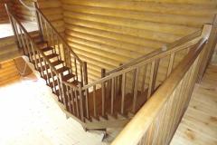 Открытая лестница, щит березы